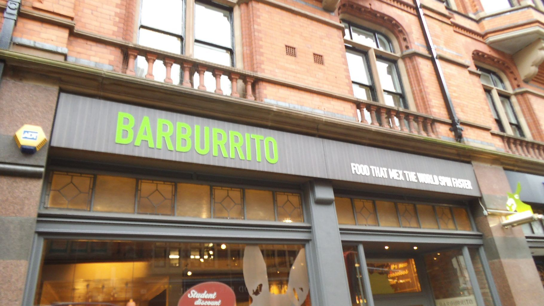 BARBURRITO Fret cut composite tray sign with a di-noc wrap and push through acrylic letters