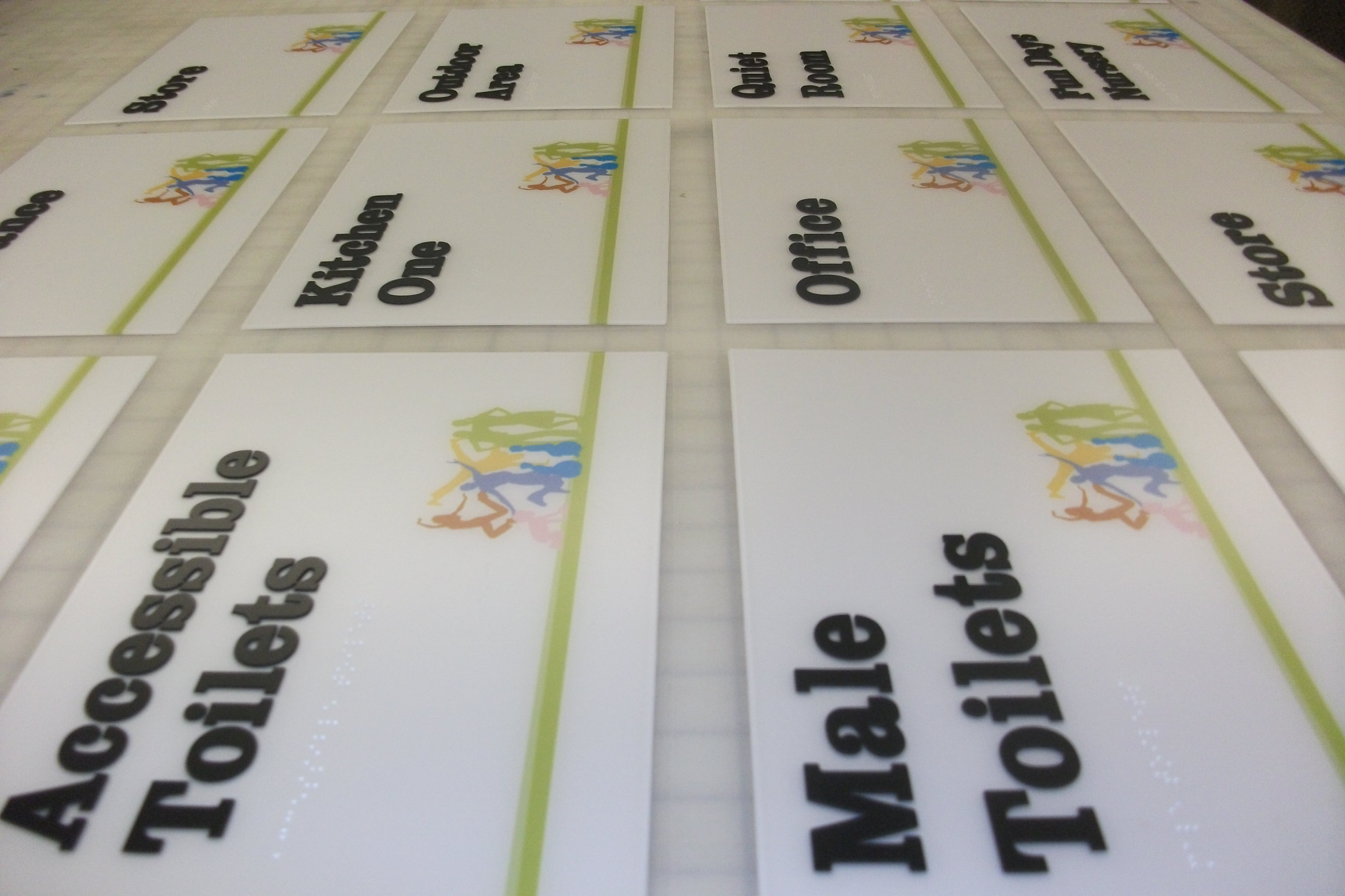 Bolton council full colour printed braille tactile signs