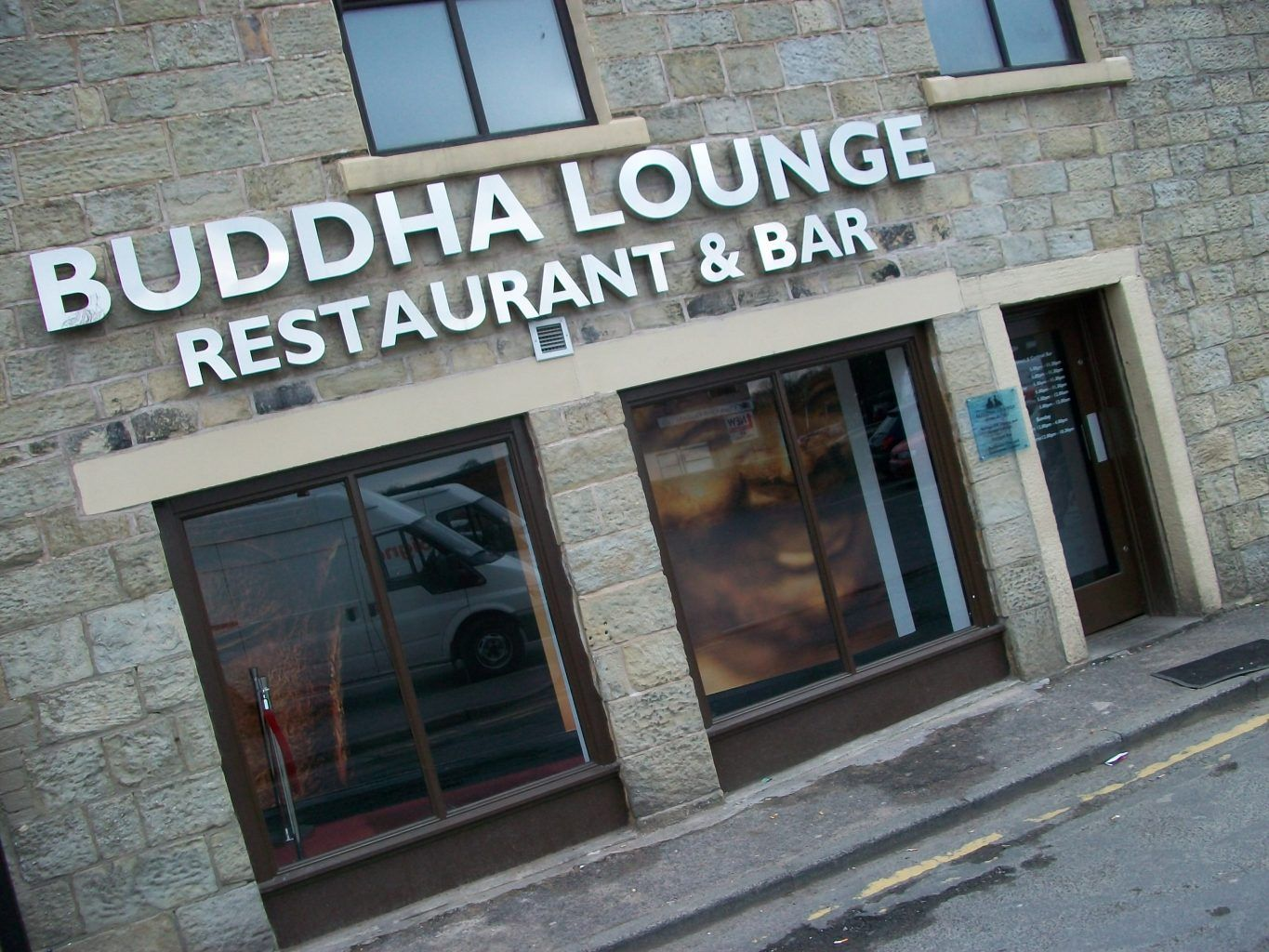 BUILT UP BUDDHA LOUNGE CHROME LETTERS