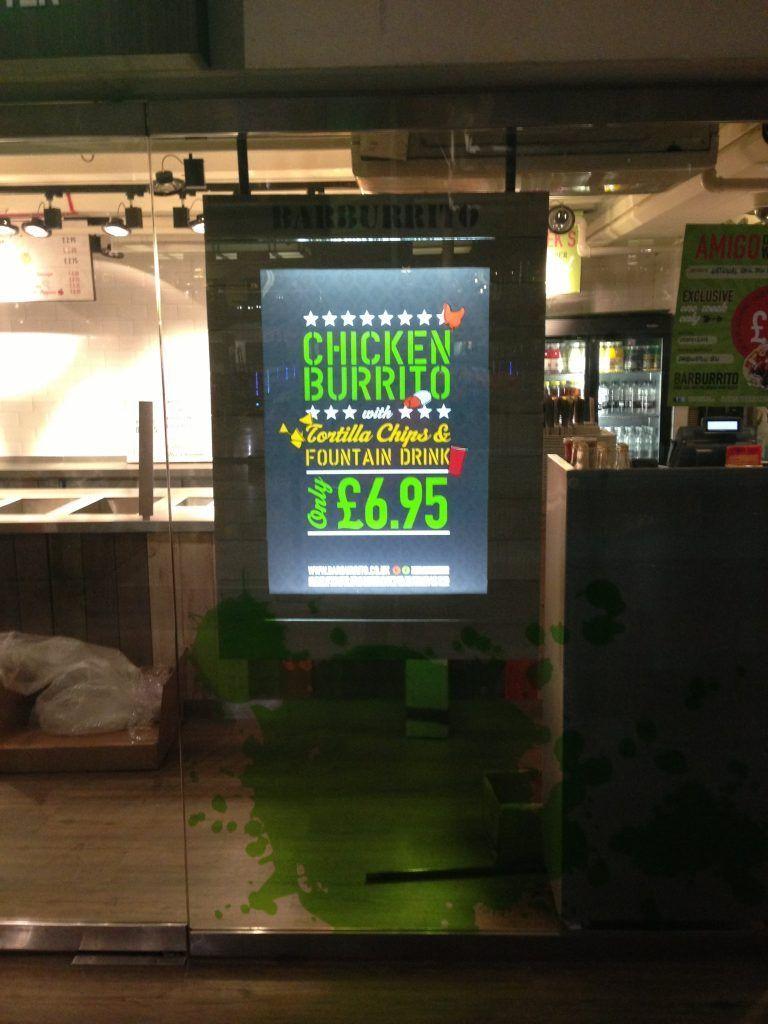 Barburrito Internally Illuminated Display
