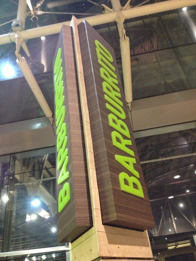 Barburrito Internally Illuminated Gantry Sign (2)