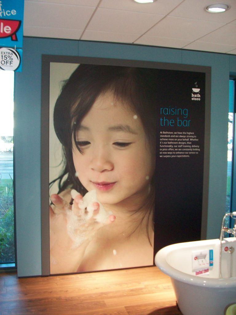 Bath Store Full Colour Digitally Printed Foamex Panel
