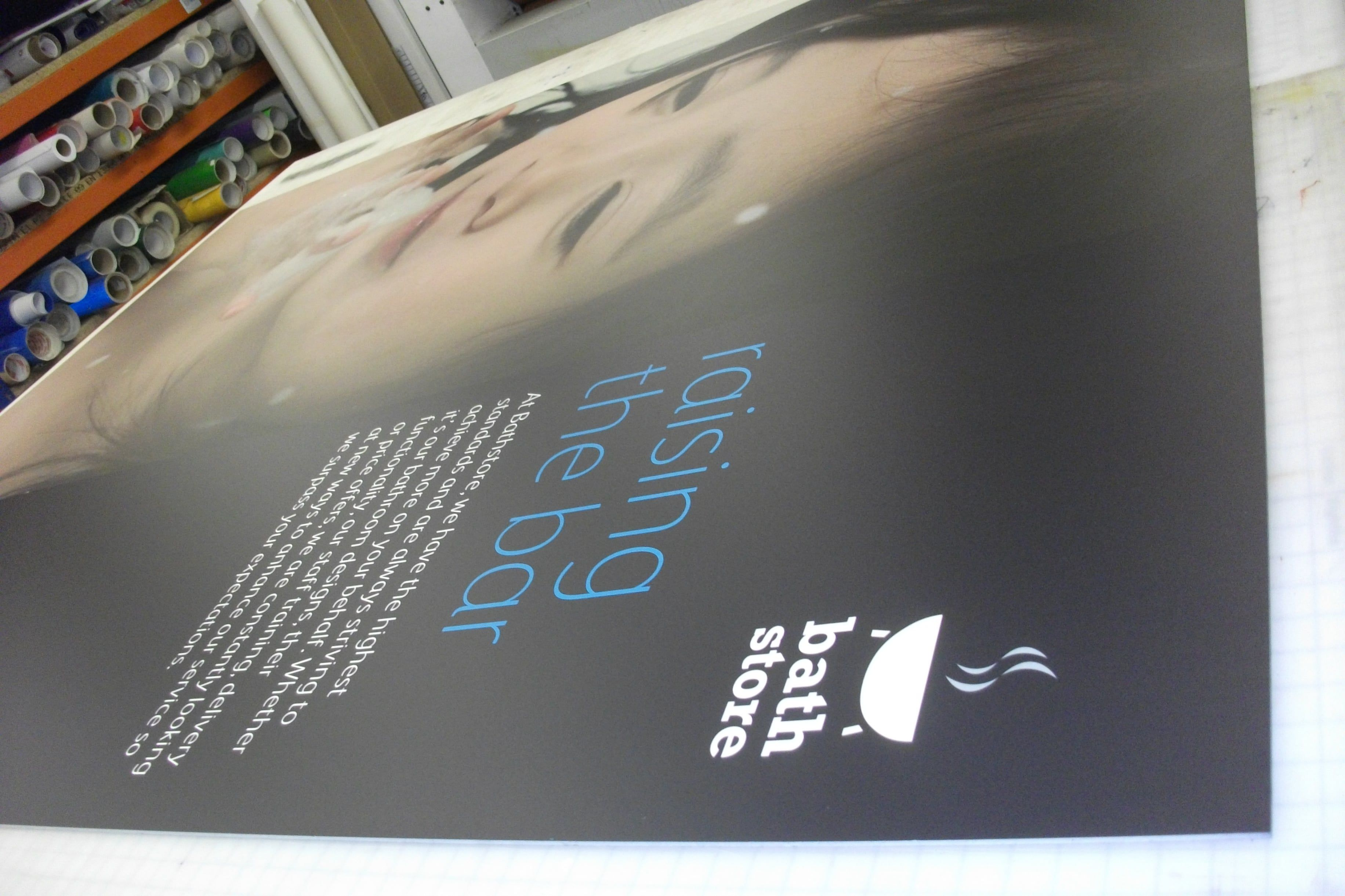 Bath Store Large format printed Foamex Panels