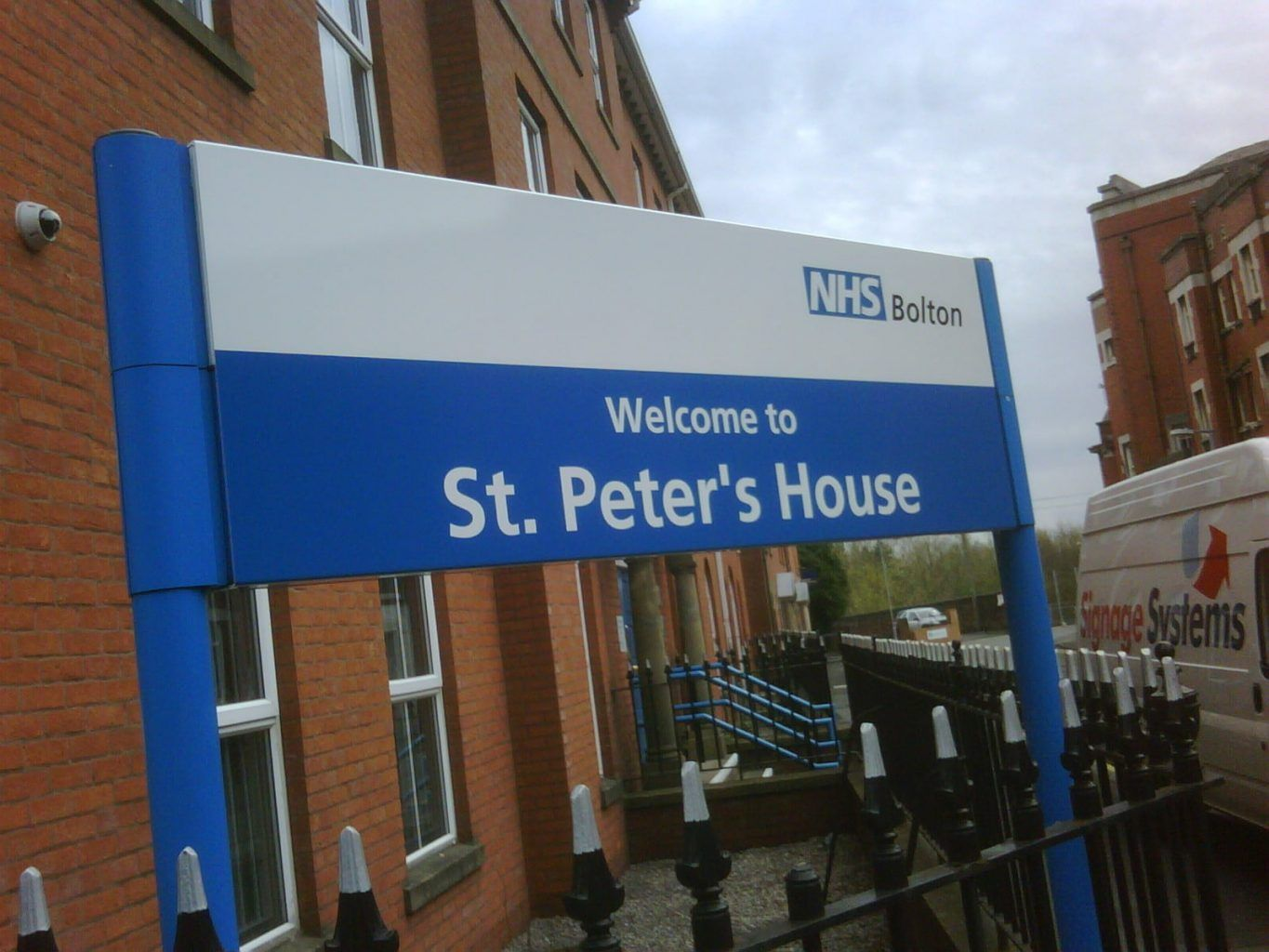Bolton NHS health sector external Post Sign