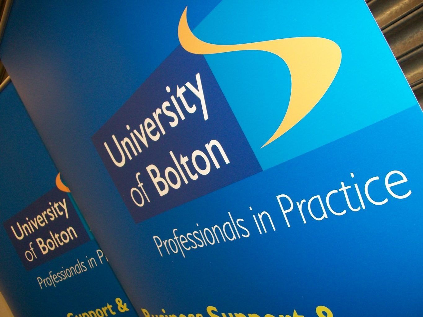 Bolton University Large format printed pop up banners