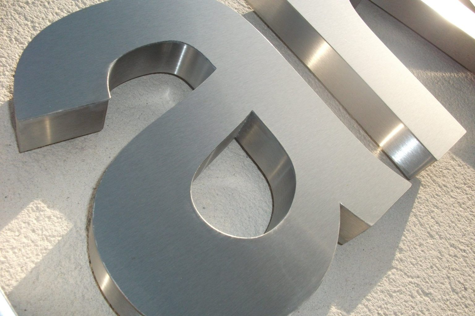 Built up school stainless steel letters