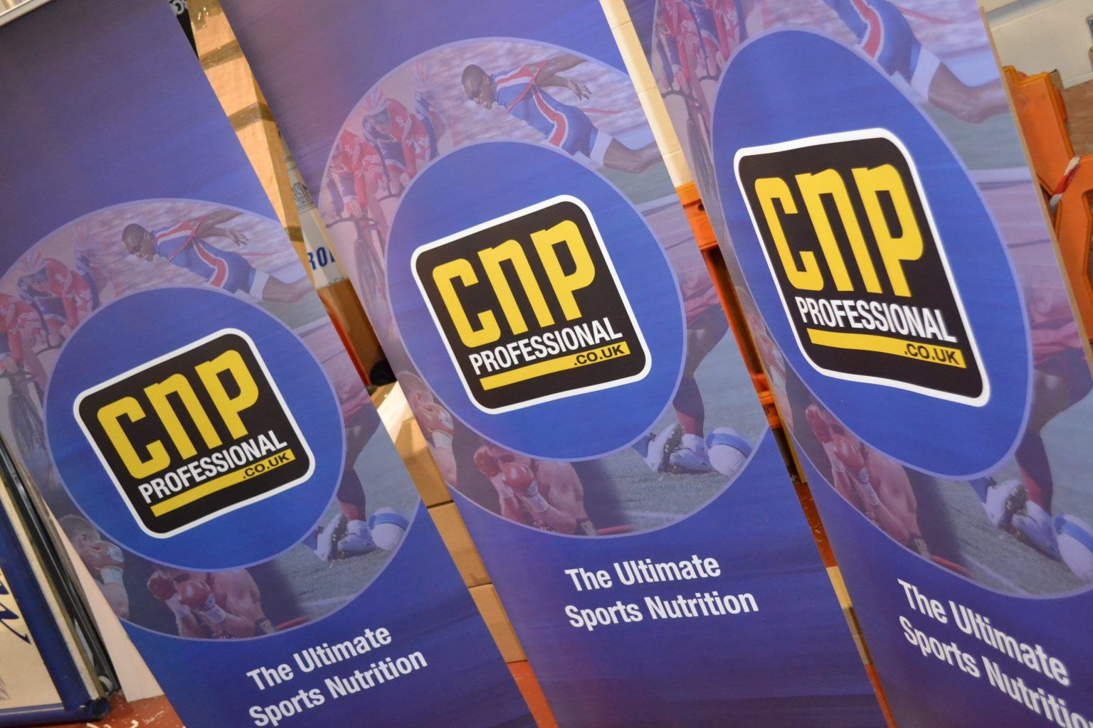 CNP Large format printed pop up banners