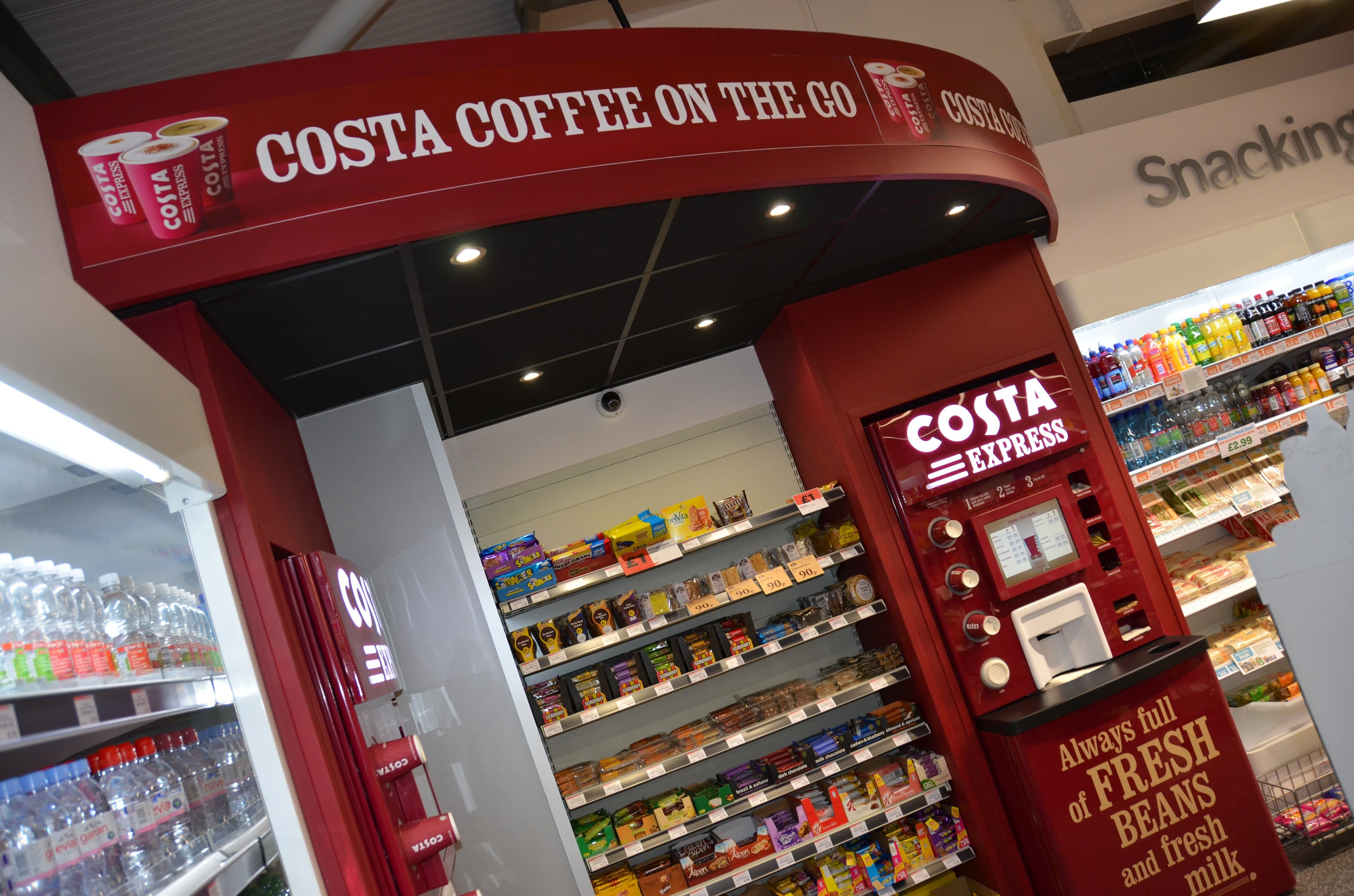 Costa Coffee Full Colour Digitally Printed Foamex Panel