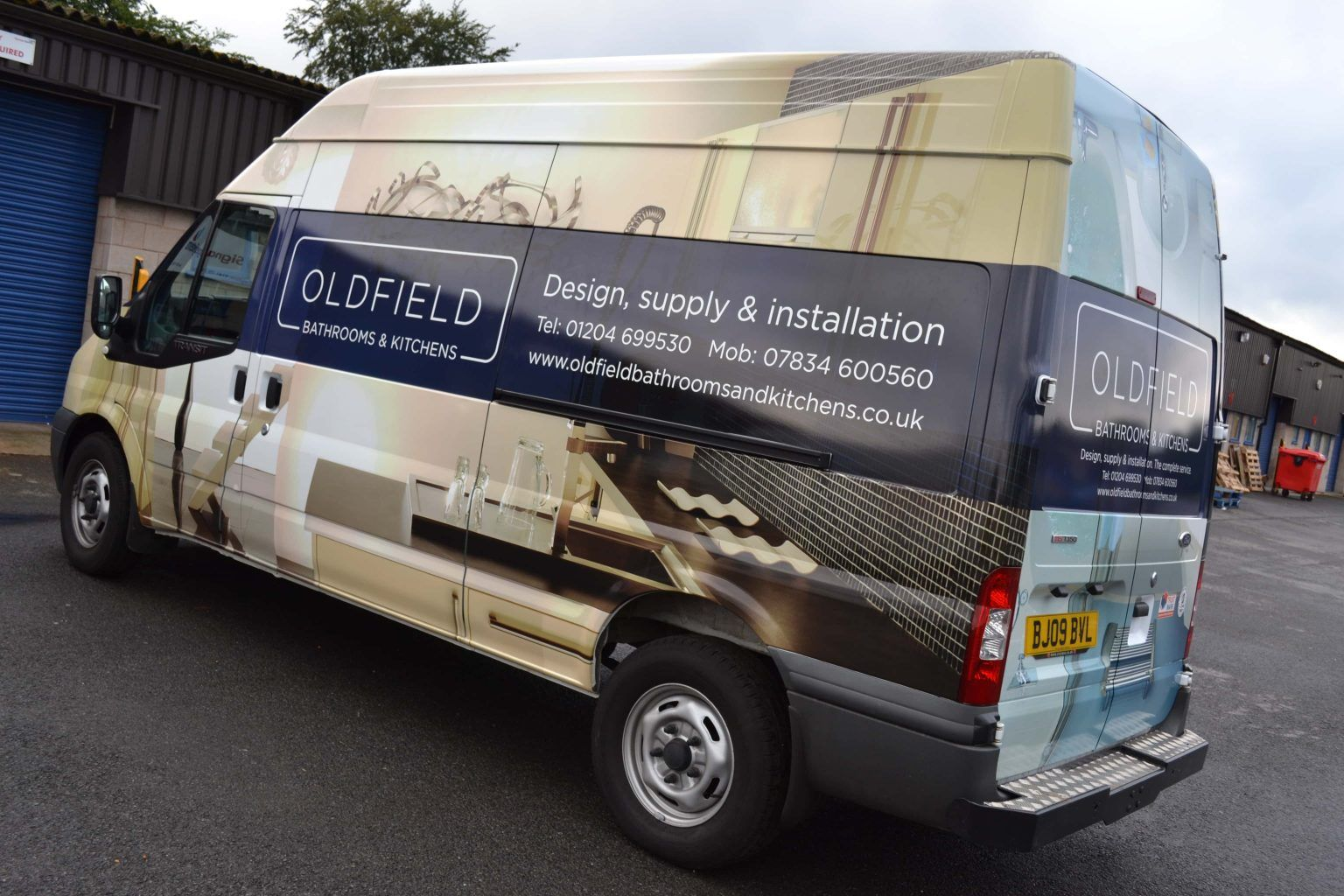 Oldfield Bathrooms and Kitchens Vehicle Wrap