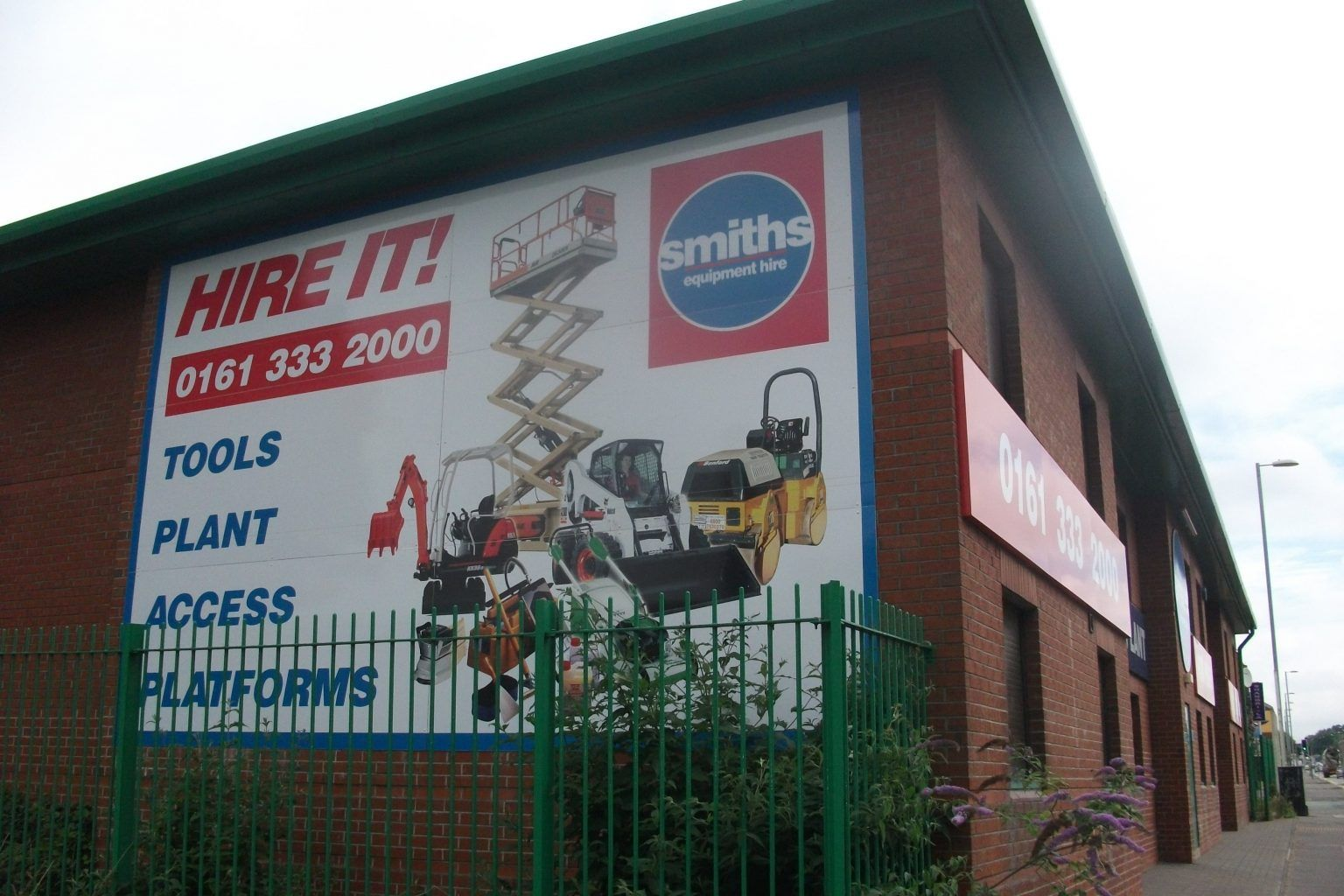 Full colour printed hoarding panels- Smiths Equipment Hire