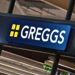 Greggs Internally Illuminated Tray Sign
