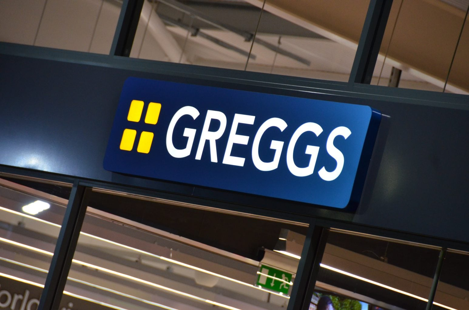 Greggs Internally Illuminated Tray Sign