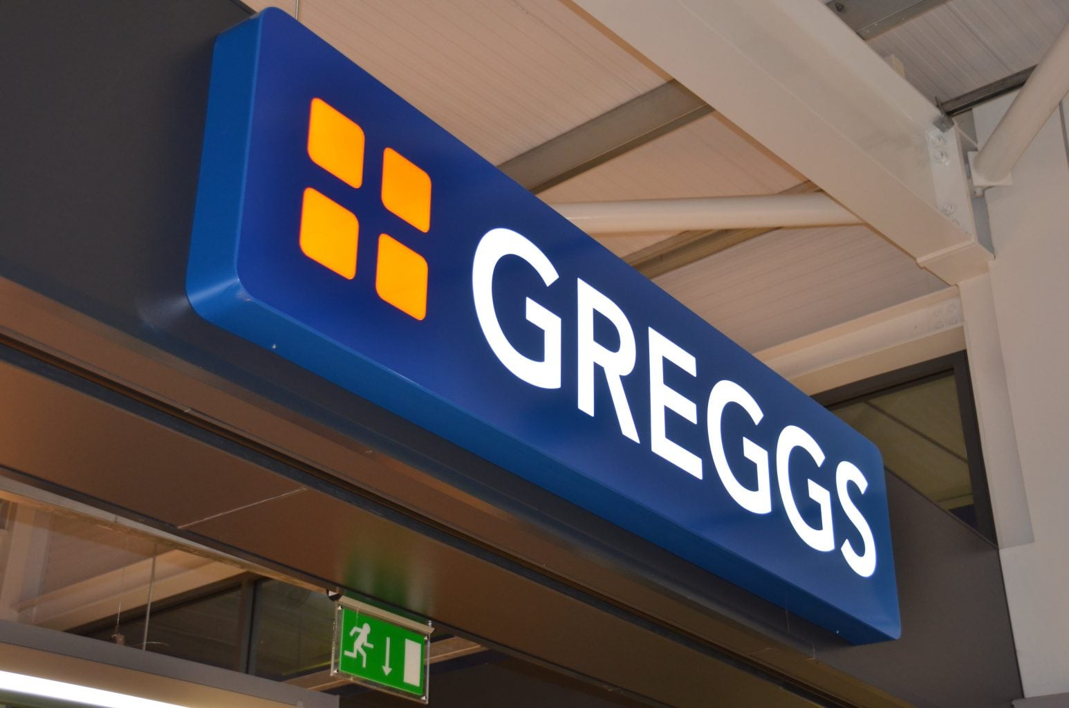 Greggs illuminated sign tray