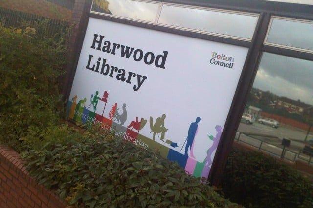 Harwood Library vinyl window graphic