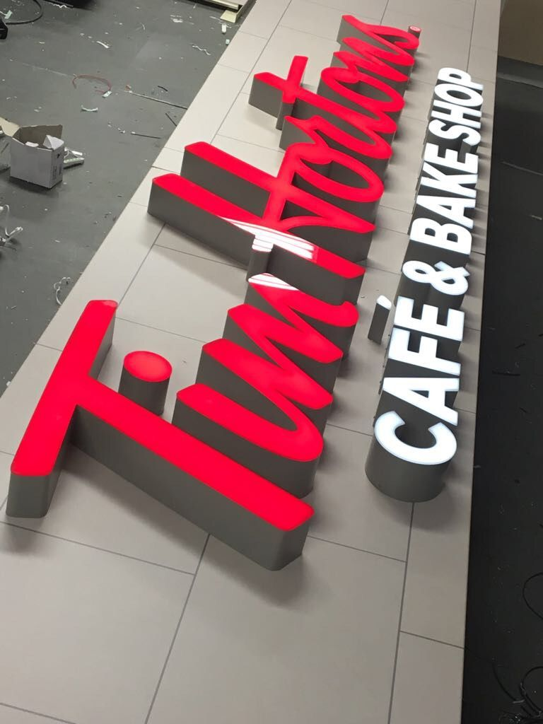 manufacturing of signage