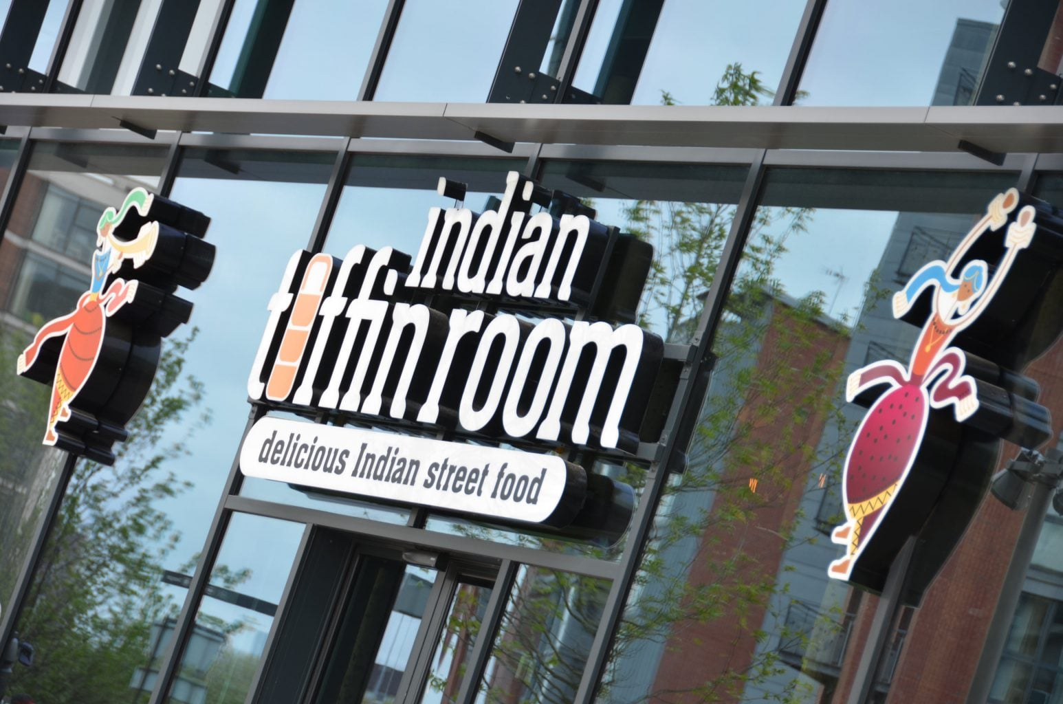 Indian Tiffin Room illuminated built up letters