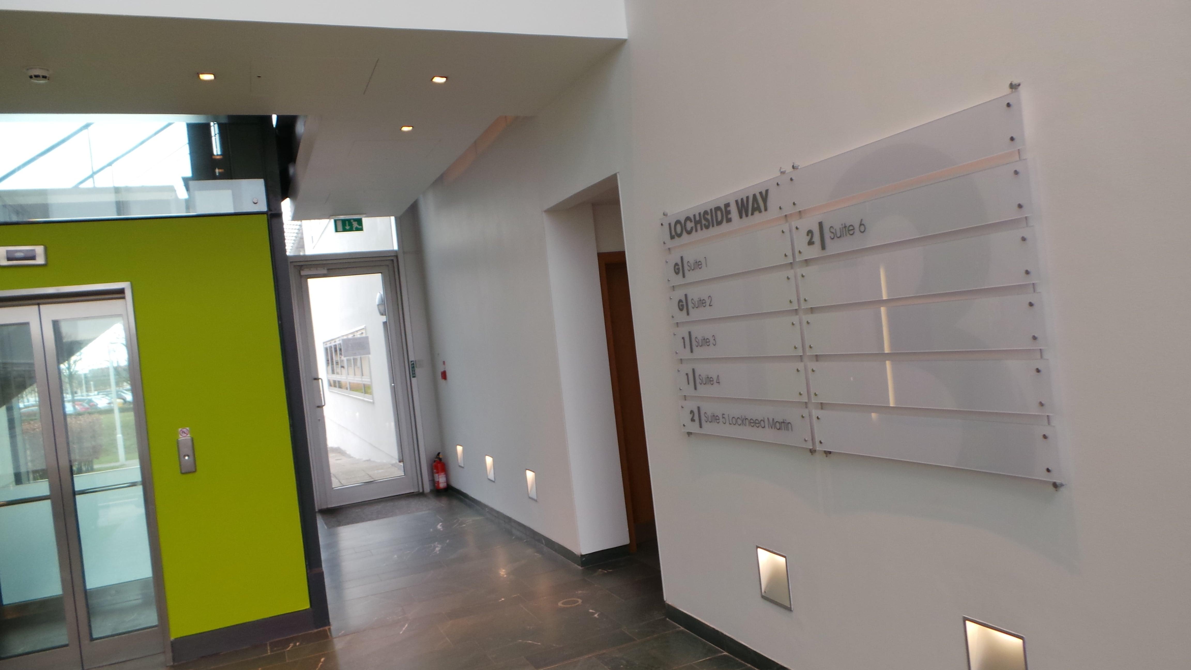 Lockside acrylic wall directory