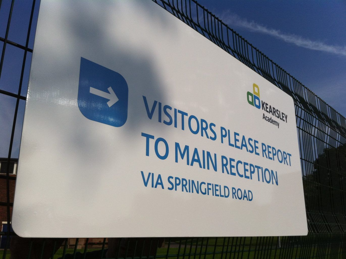 Main Reception School Sign