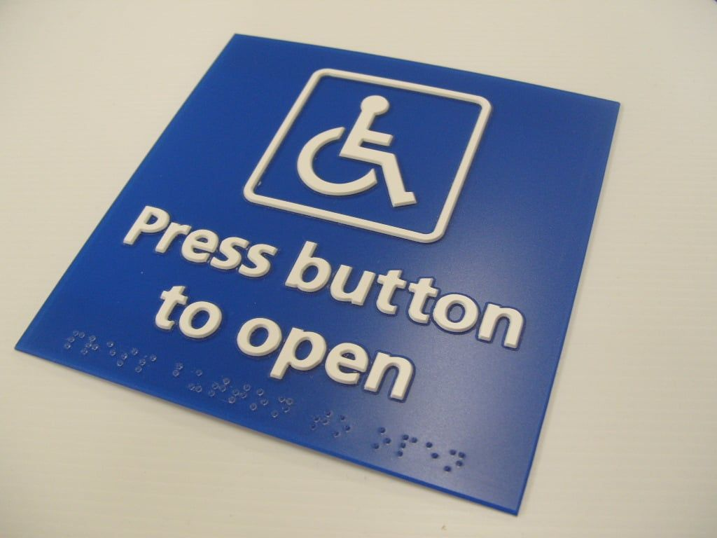 NHS PRESS BUTTON BRAILLE & TACTILE SIGNS