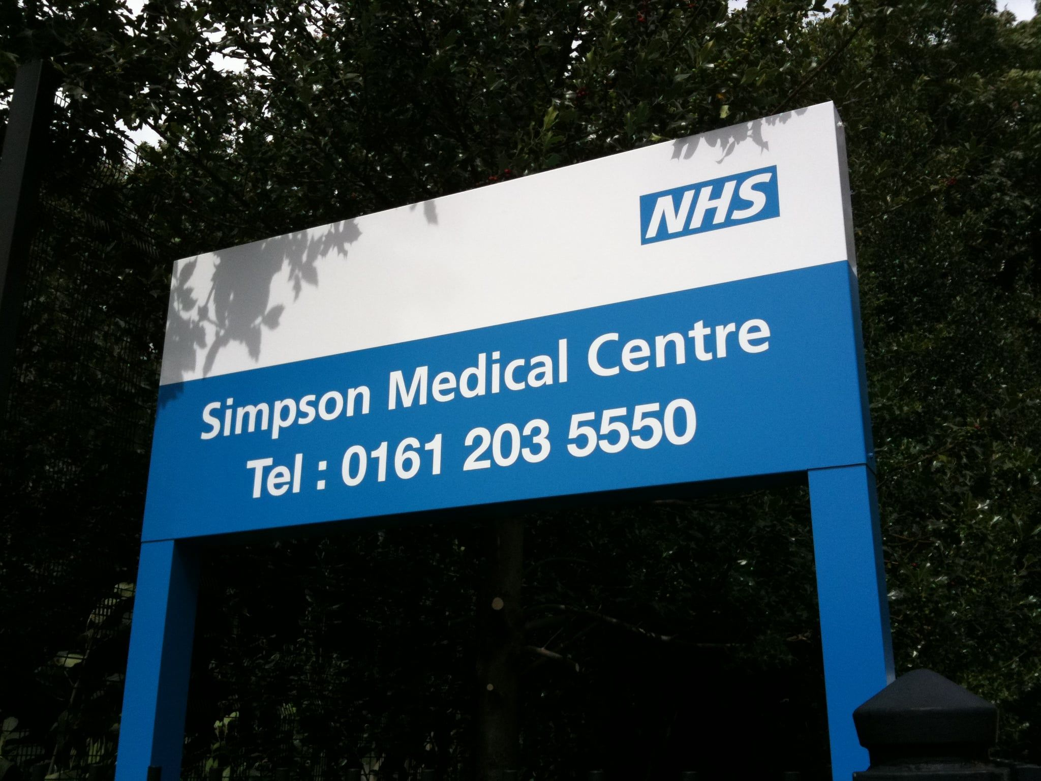 NHS health sector Post Sign