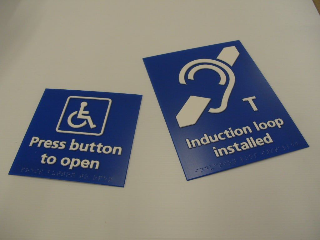 NHS health sector braille and tactile signs