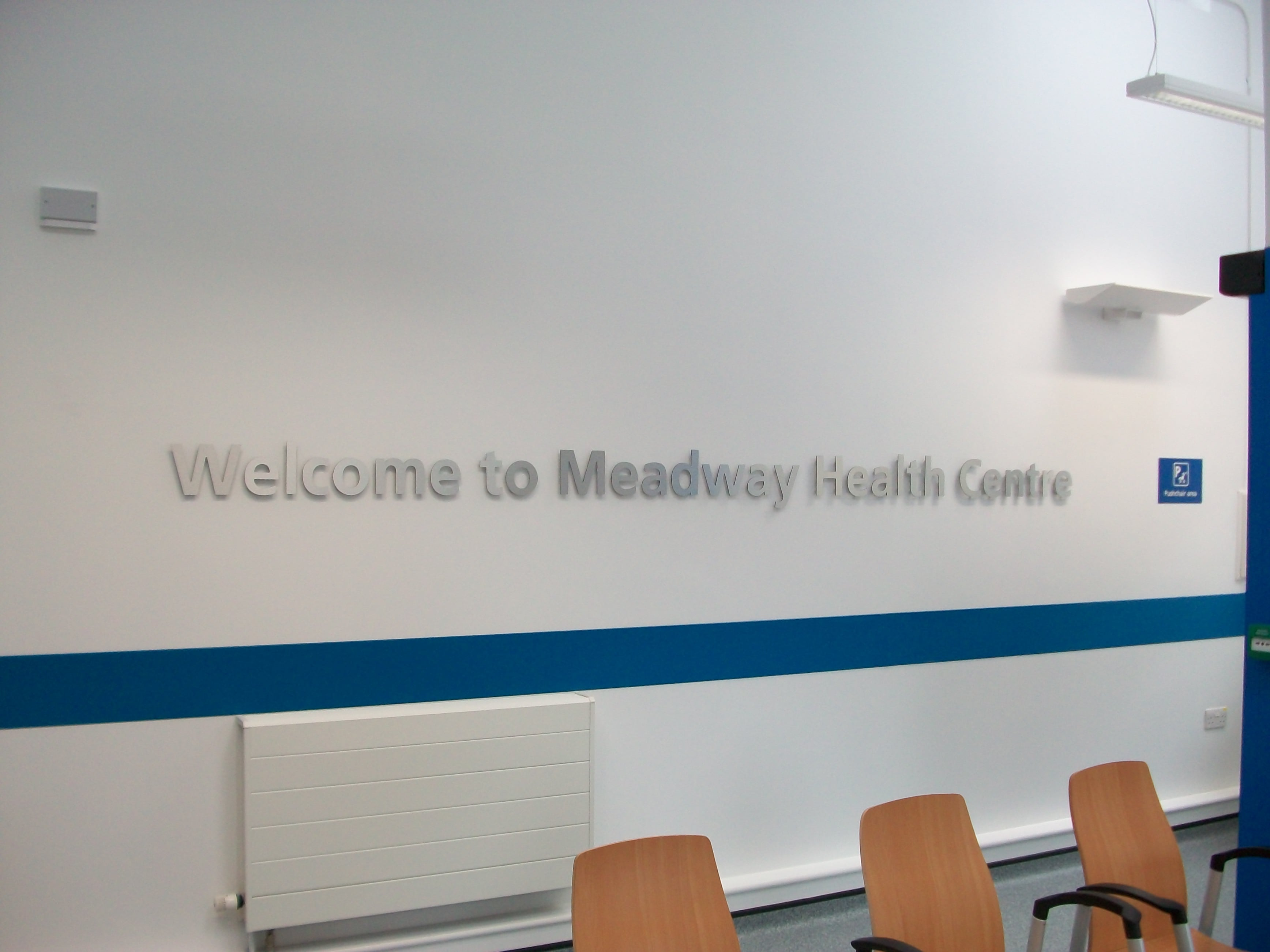 NHS health sector flat cut wall mounted letters