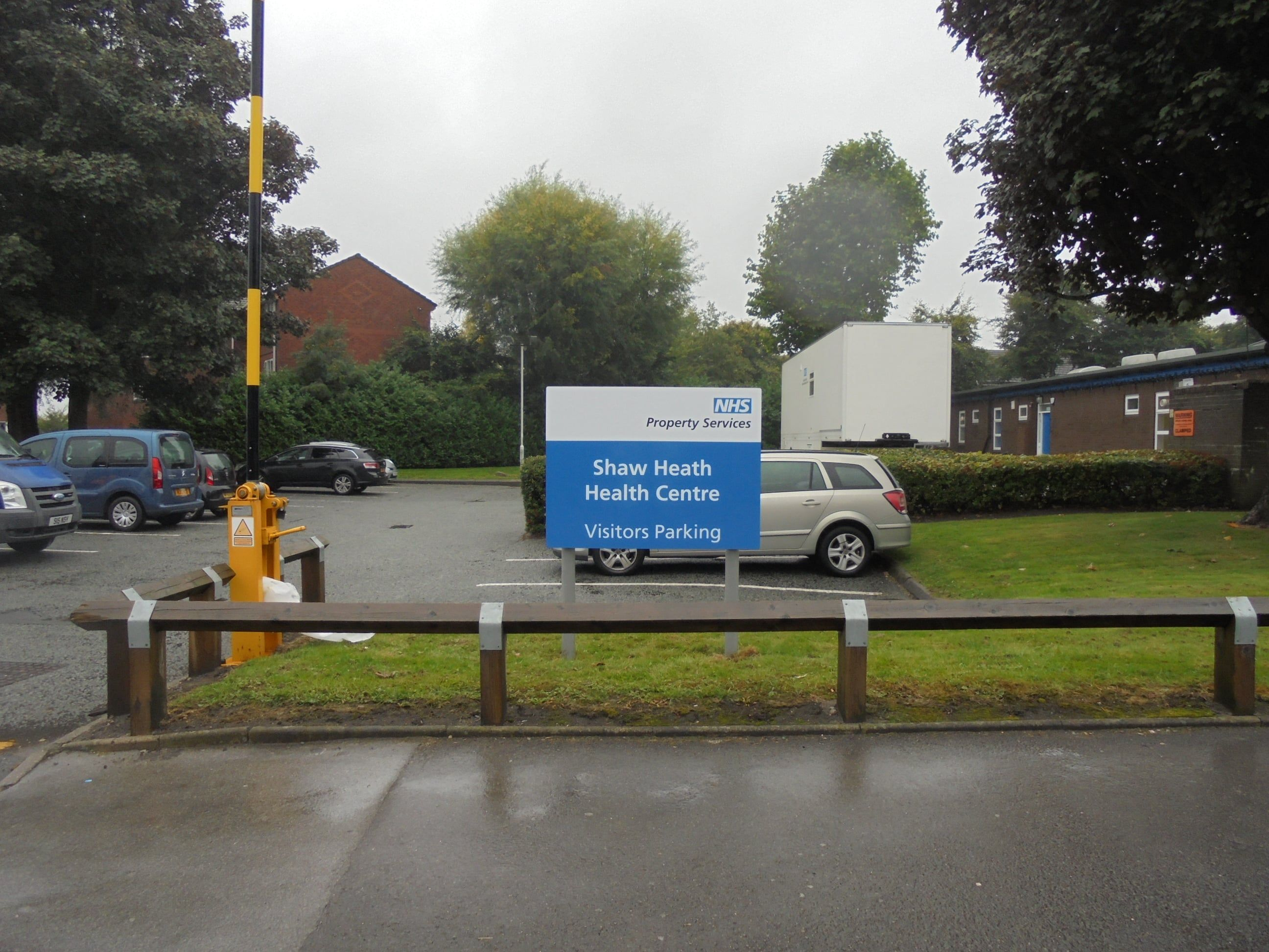 NHS health sector panel and channel post sign