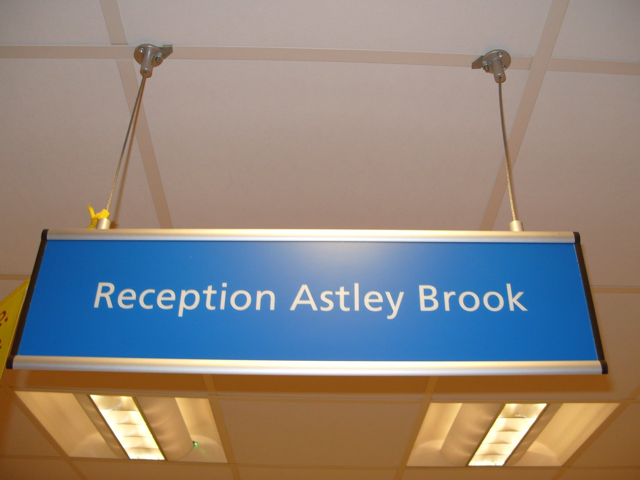 NHS health sector reception signs