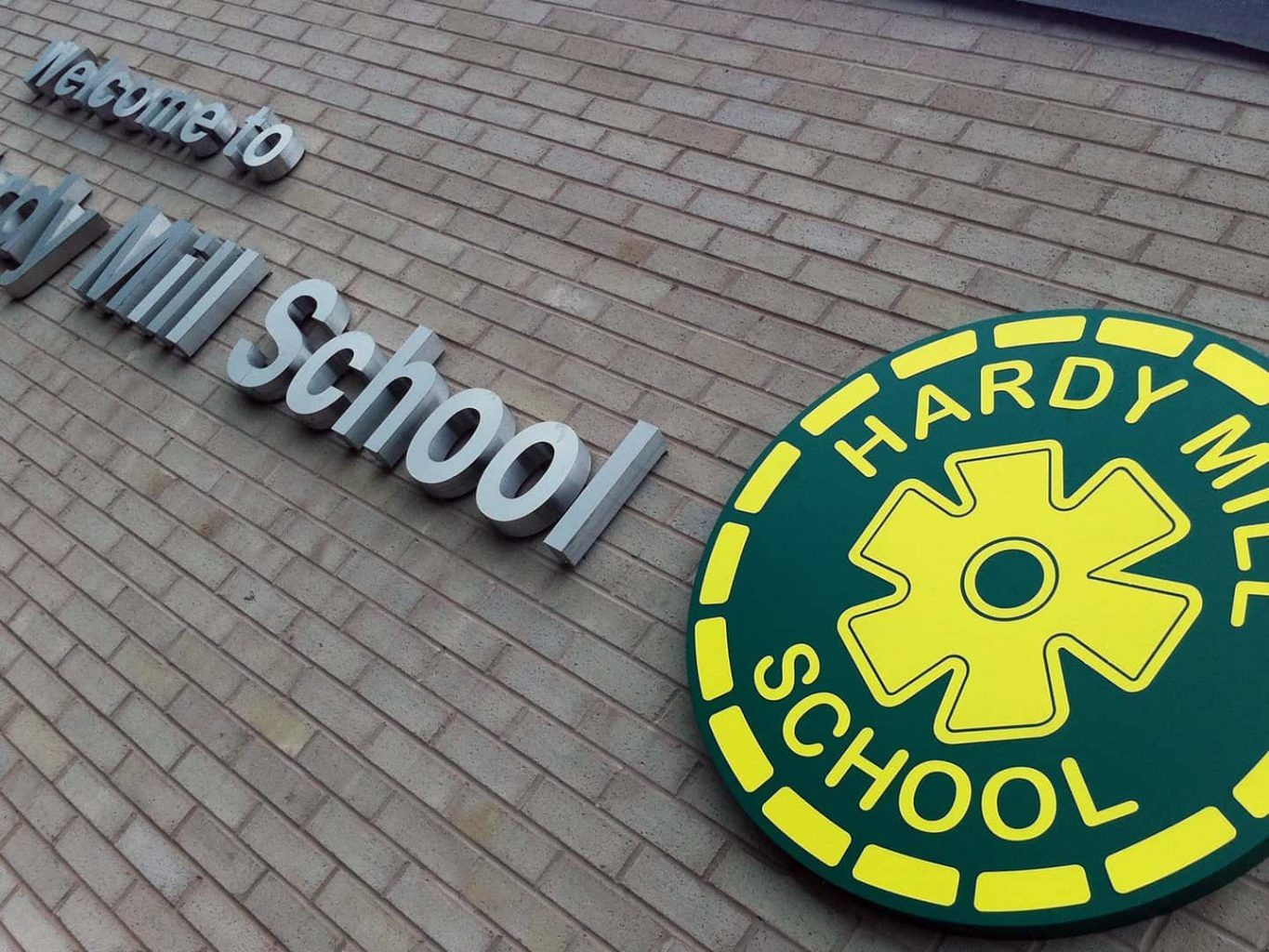 Hardy Mil School - Built Up Lettering