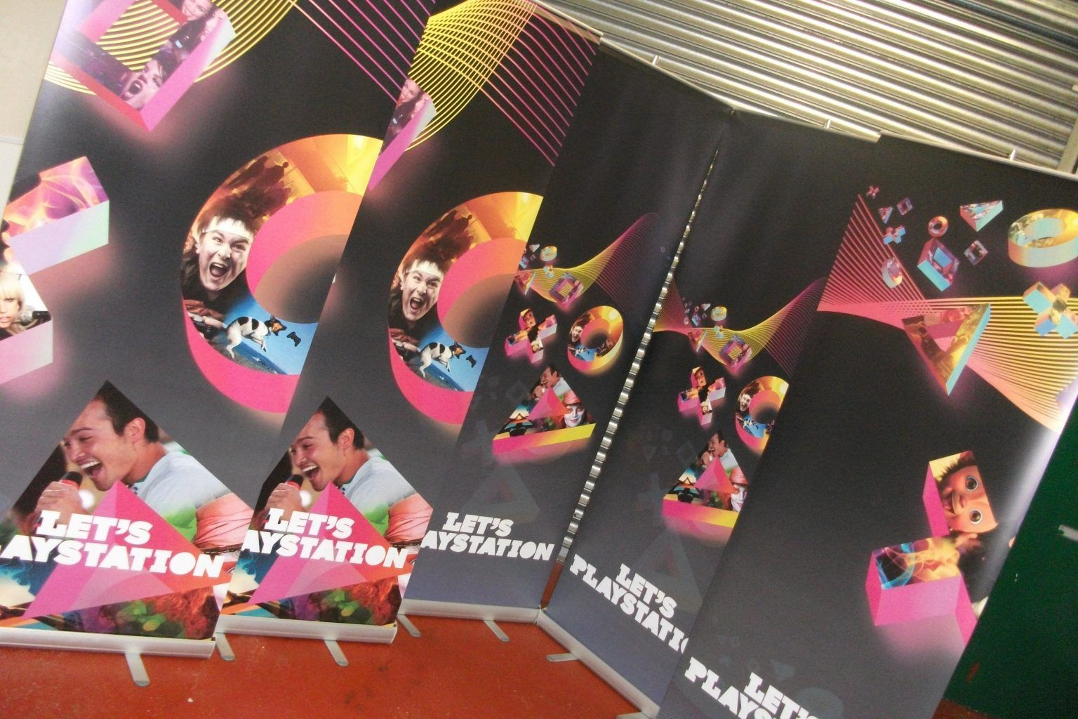 Playstation Large format printed pop up banners