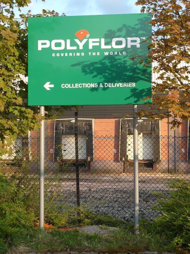 Polyflor Post sign