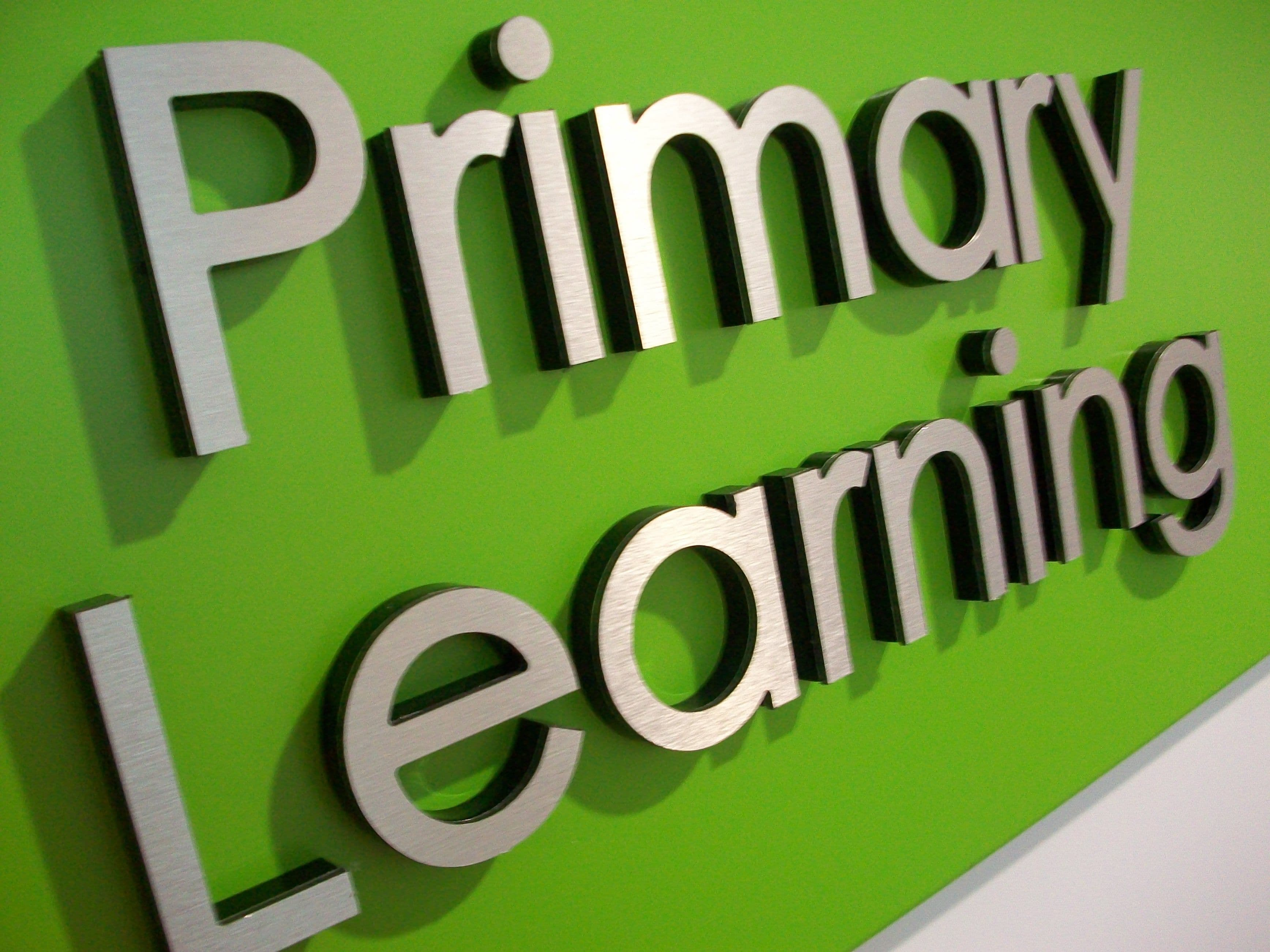Primary school wayfinding signage