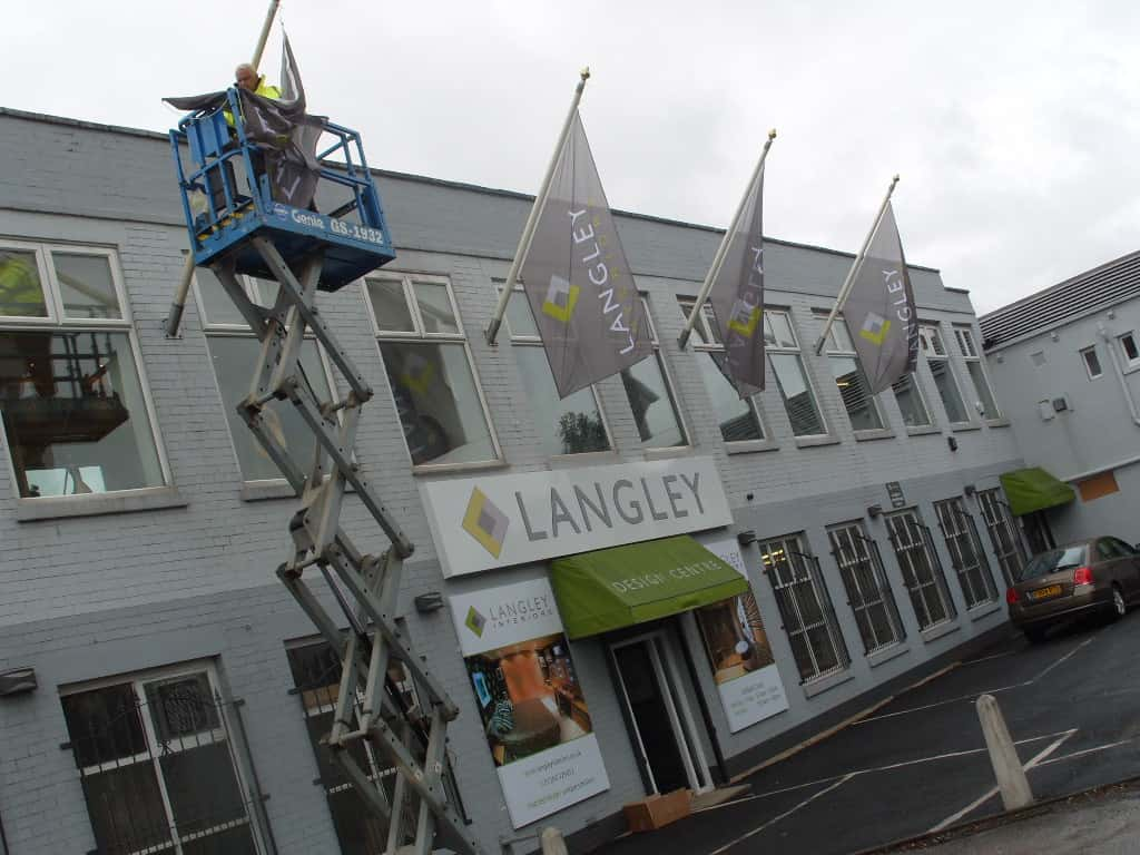 Projecting Flag Sign installation
