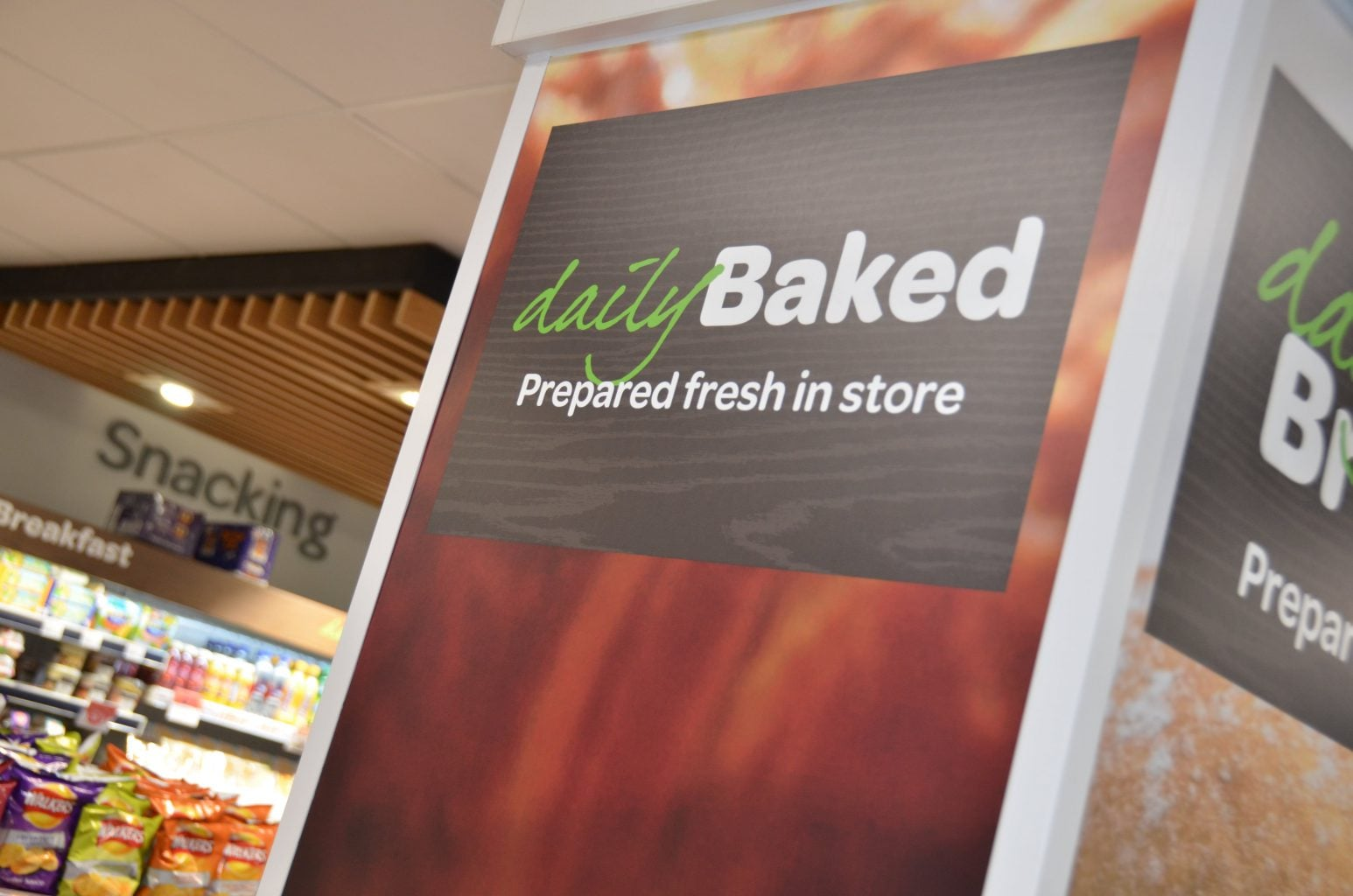 Retail grocery Full colour printed wall graphic