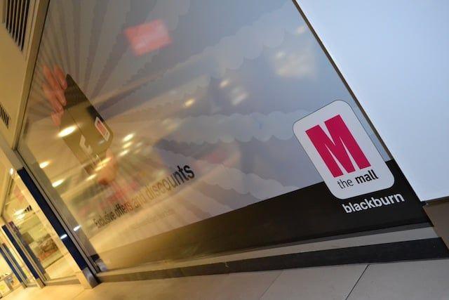Retail wall signs blackburn mall