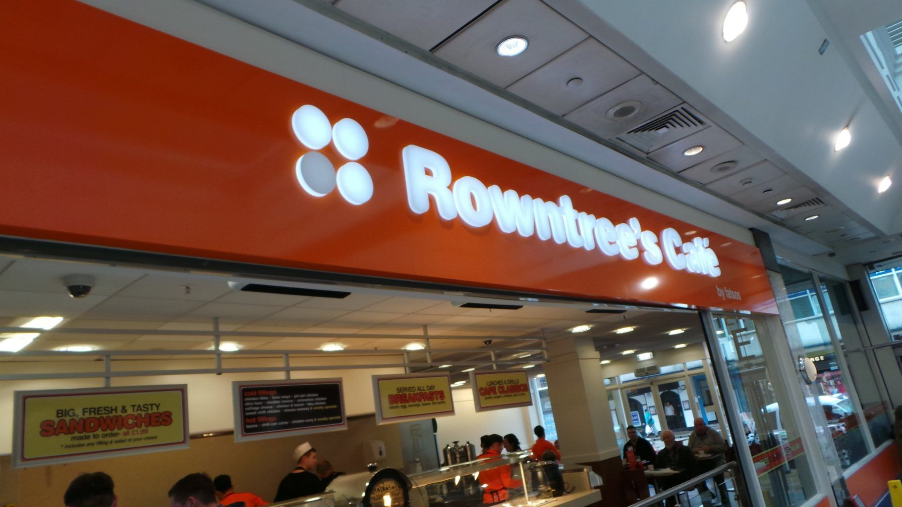 Rowntrees Fascia Sign With Acrylic Letters (2)