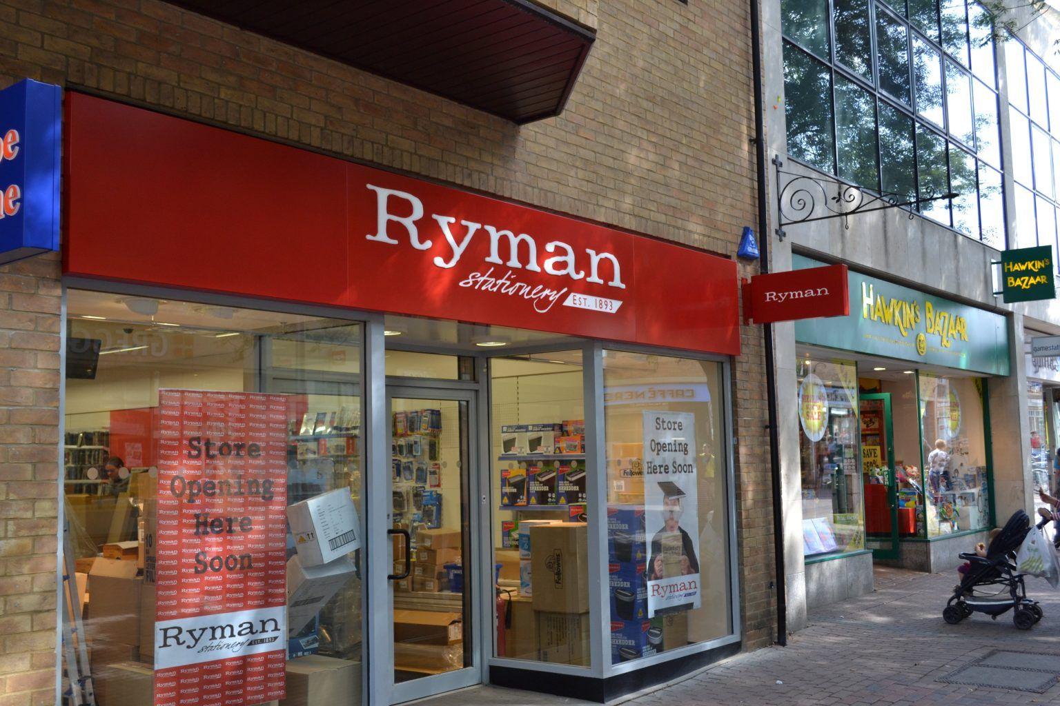 Ryman Fret Cut Tray Sign