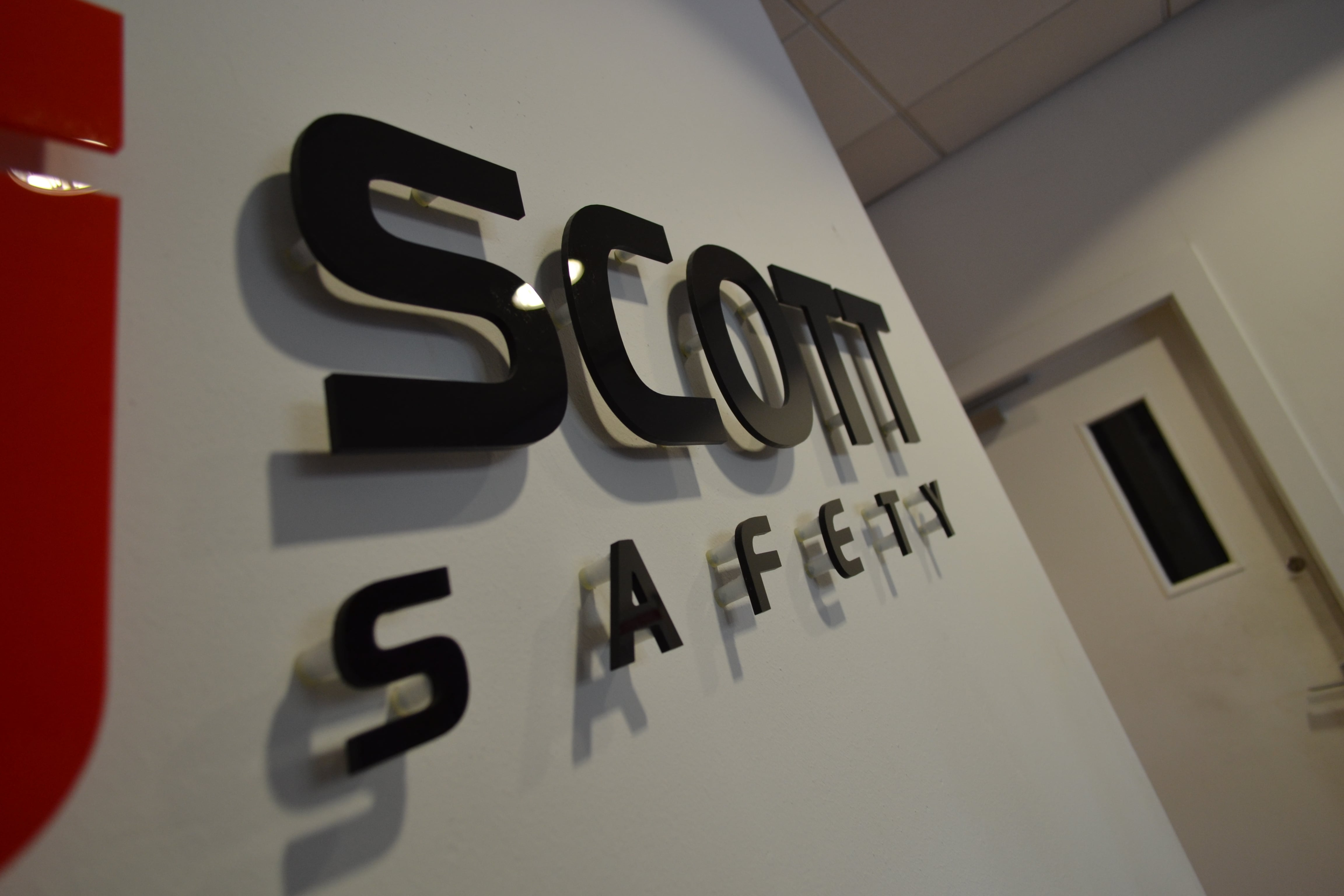 SCOTTS SAFETY FRET CUT LETTERS ON STAND OFF LOCATORS