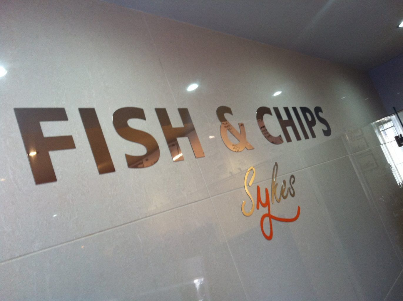 SYKES FLAT CUT CHROME WALL LETTERS