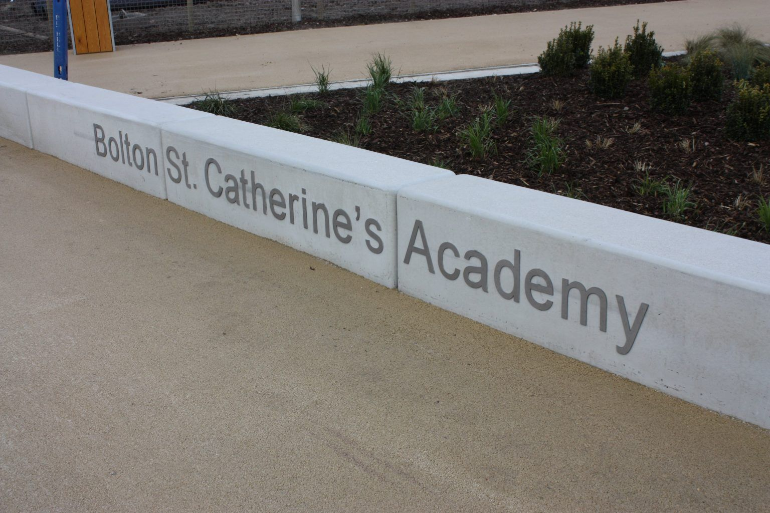 School flat cut Brushed Stainless Steel letters
