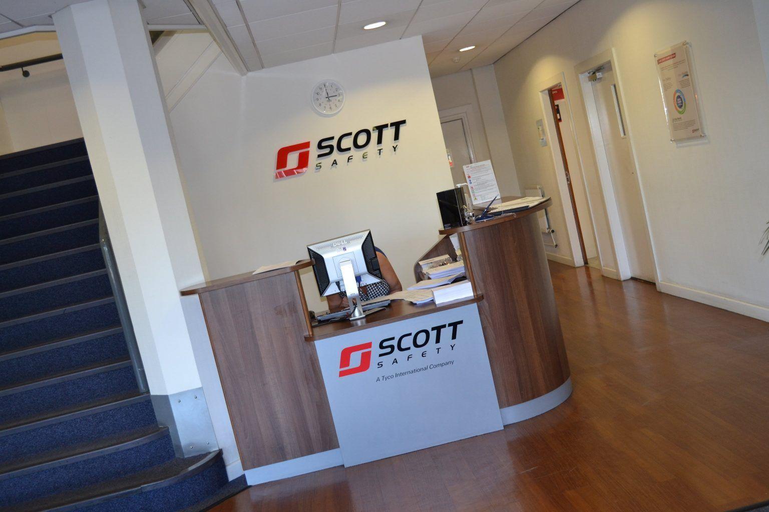 Scott Safety reception signage