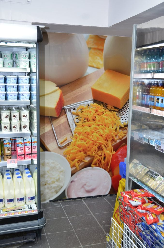 Spar Dairy wall graphic