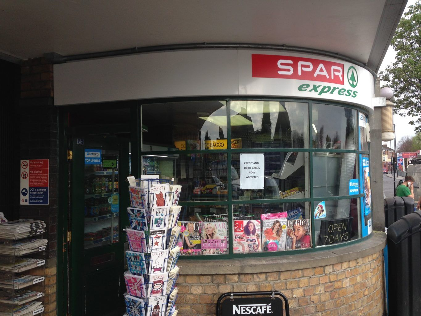 Spar Express Internally Illuminated Tray Sign