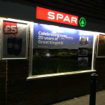 Spar Internally Illuminated Fascia Sign With Window Image