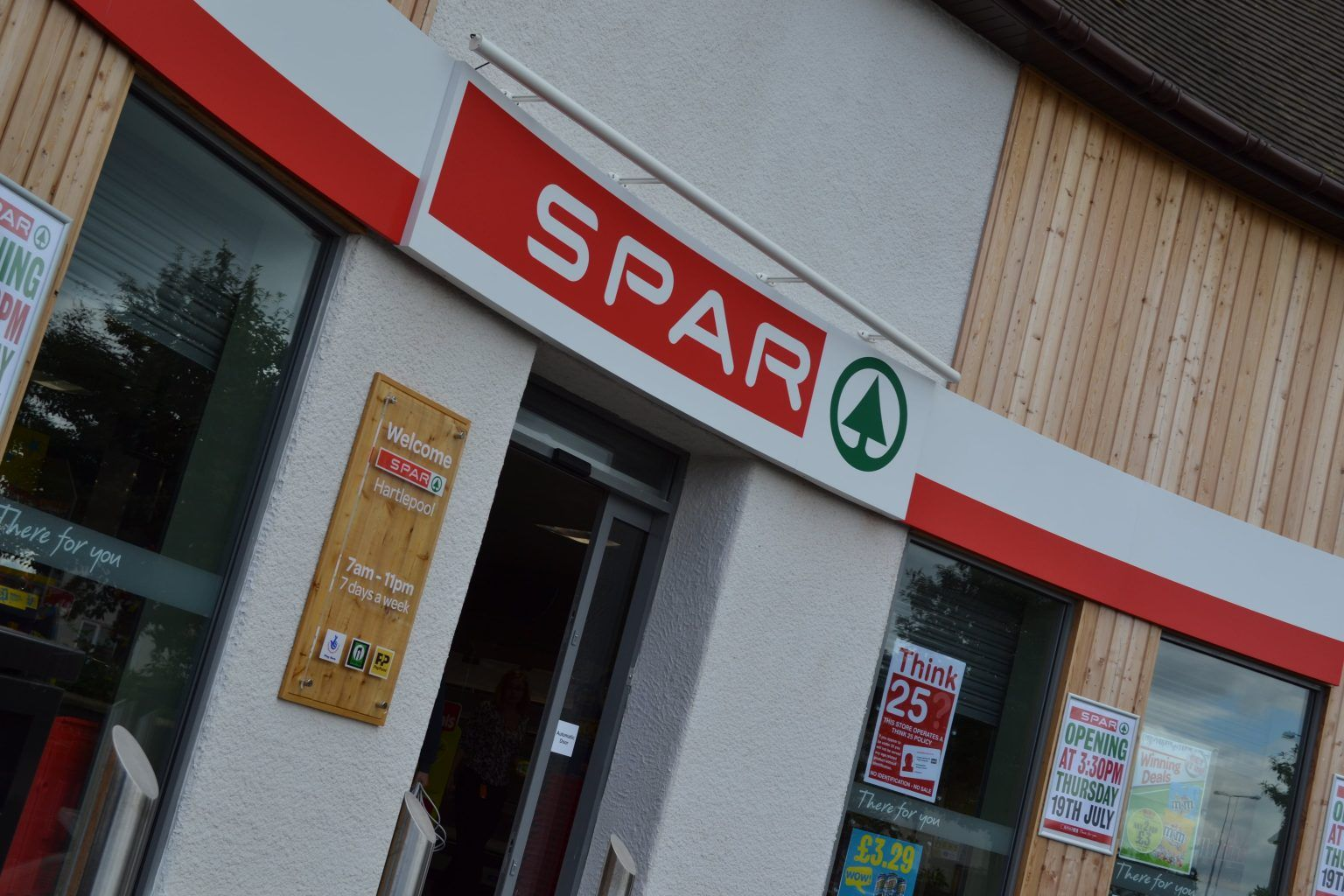 Spar curved Fascia sign