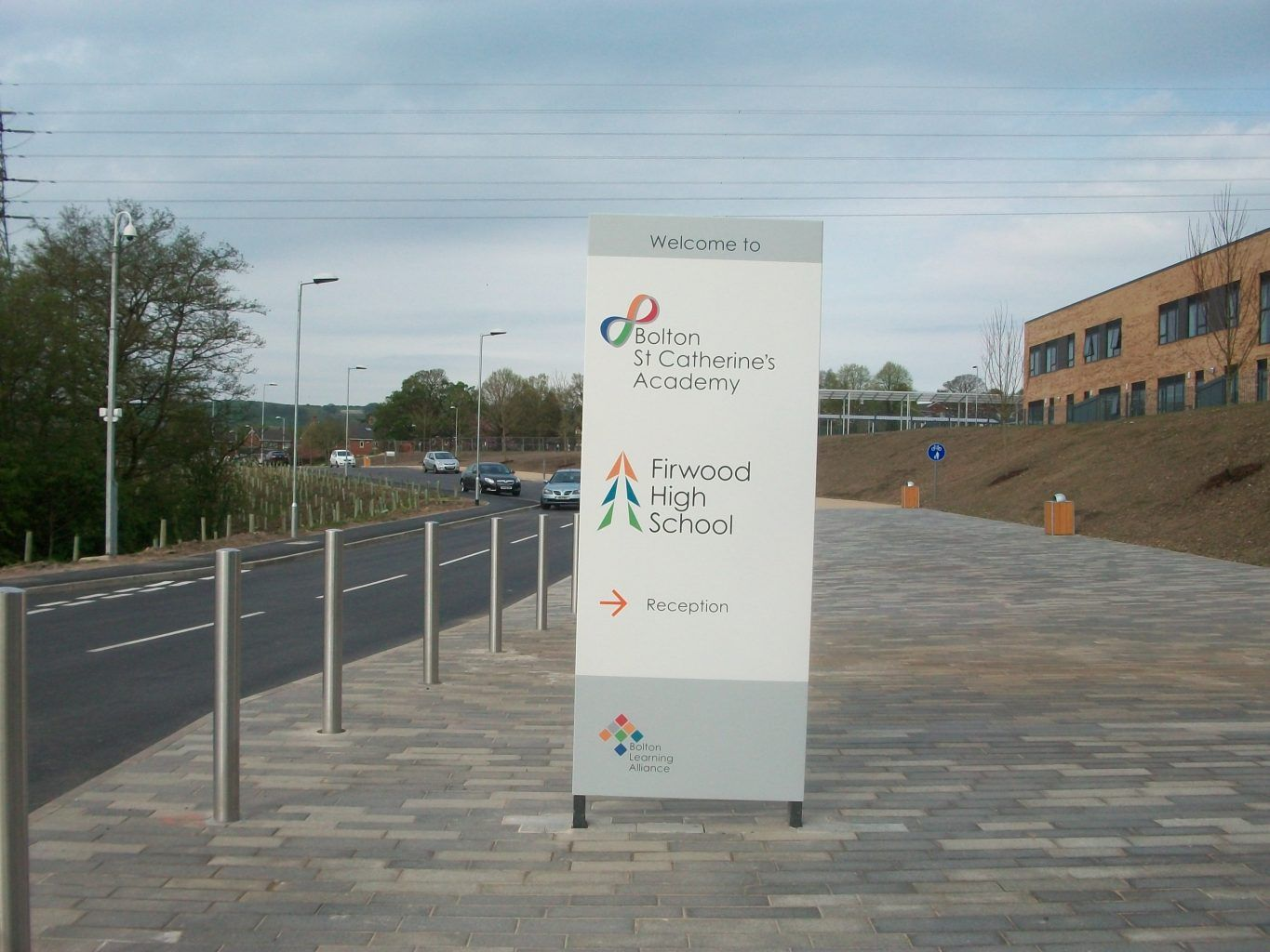 St Catherines Academy Monolith Sign (1)