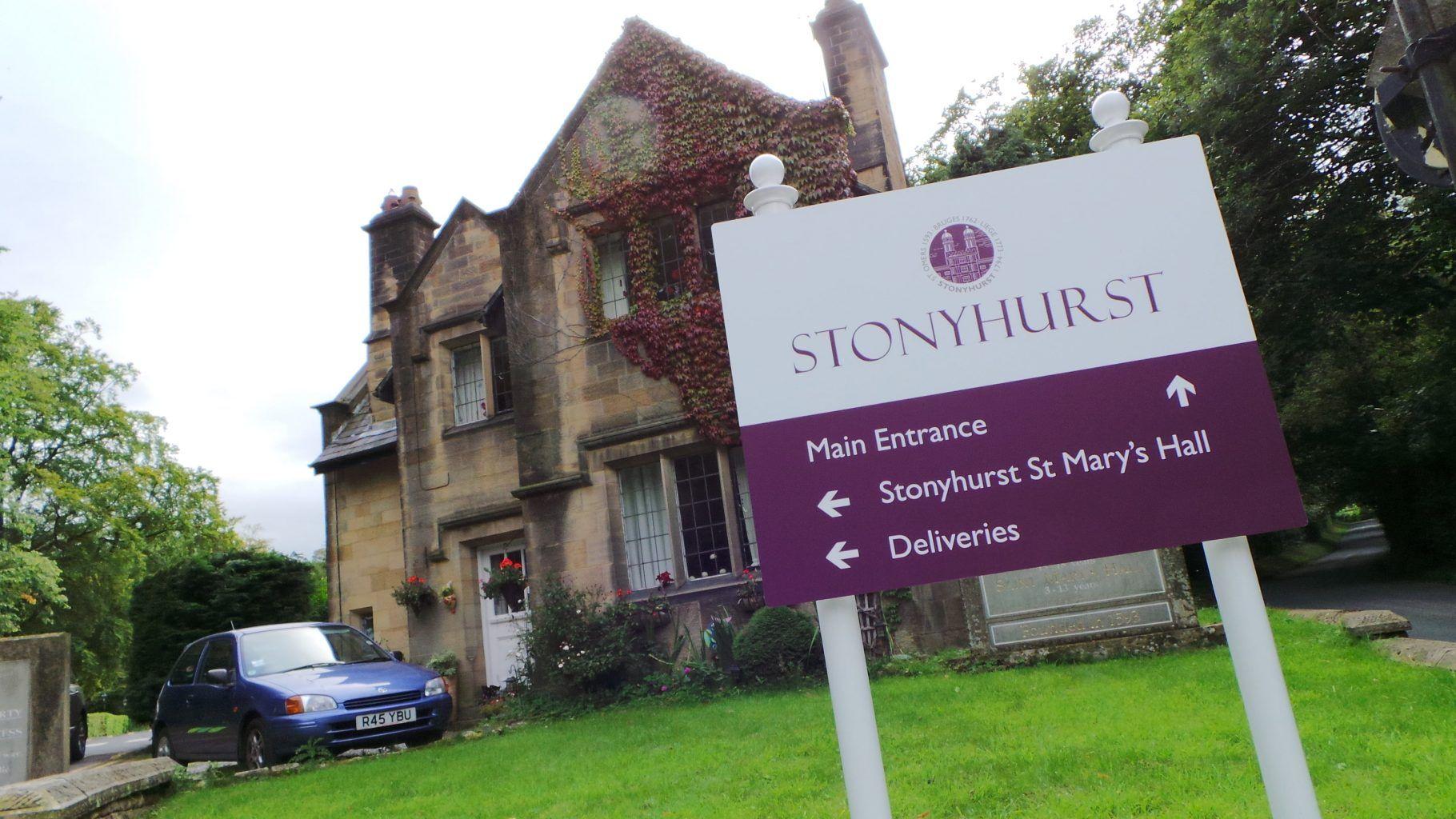 Stonyhurst College Full Colour Digitally Printed Post Sign