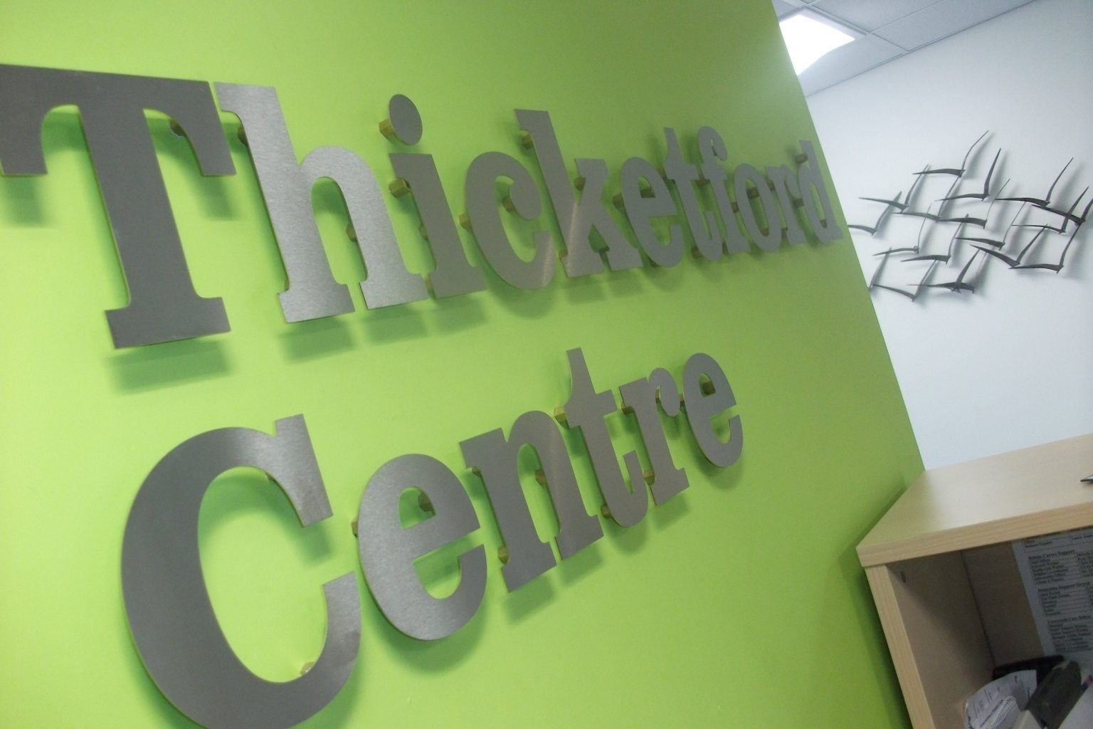 THICKFORD CENTRE STAINLESS STEEL LETTERS