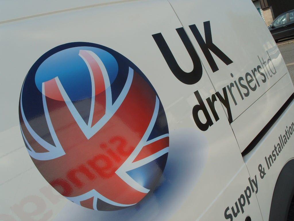 UK DryRisers Vehicle Livery