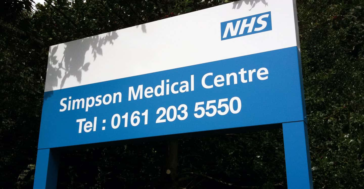 Health Sector Signs - Simpson Medical Centre